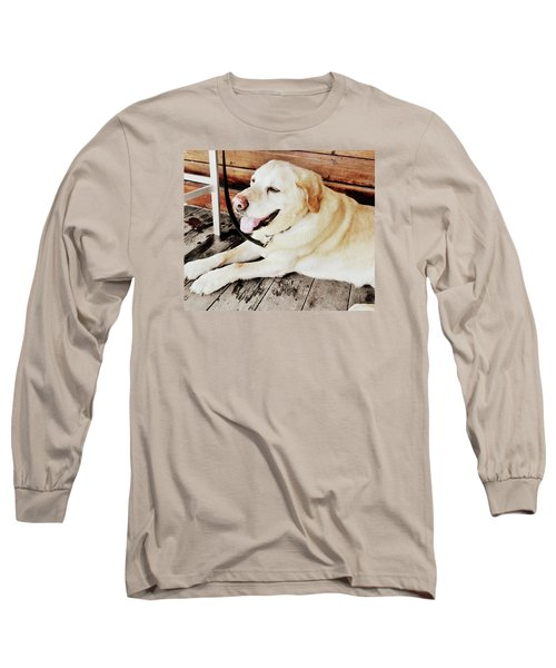 Porch Pooch Long Sleeve T-Shirt by JAMART Photography