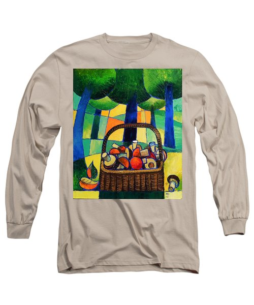 Long Sleeve T-Shirt featuring the painting Porcini by Mikhail Zarovny