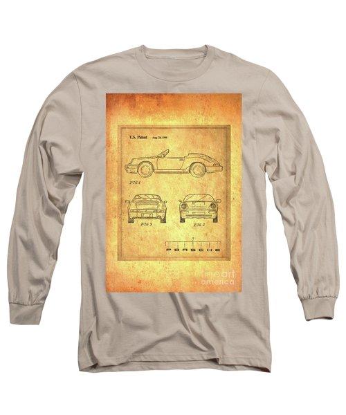 Porsche Blueprint Long Sleeve T-Shirt by Steven Parker