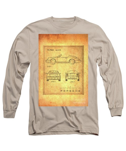 Porsche Blueprint Long Sleeve T-Shirt