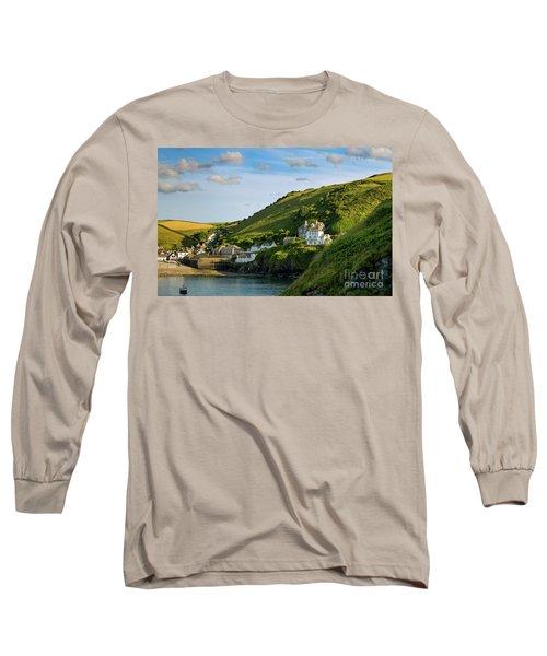 Long Sleeve T-Shirt featuring the photograph Port Issac Hills by Brian Jannsen