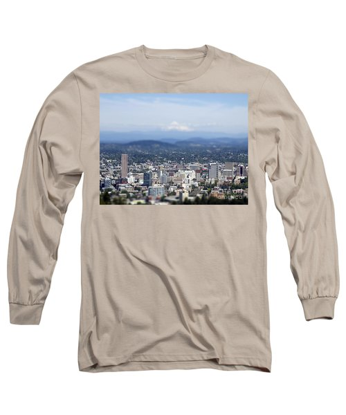 Portland In Perspective Long Sleeve T-Shirt