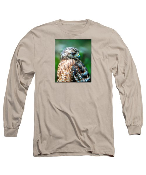 Long Sleeve T-Shirt featuring the photograph Portrait Of A Hawk by Sue Melvin