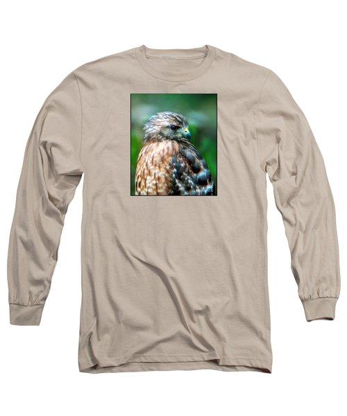 Portrait Of A Hawk Long Sleeve T-Shirt by Sue Melvin