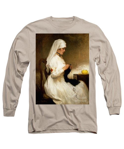 Portrait Of A Nurse From The Red Cross Long Sleeve T-Shirt