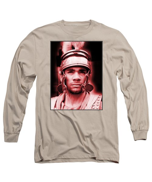 Portrait Of A Roman Soldier Long Sleeve T-Shirt