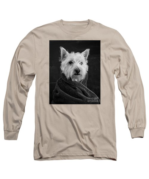 Long Sleeve T-Shirt featuring the photograph Portrait Of A Westie Dog 8x10 Ratio by Edward Fielding