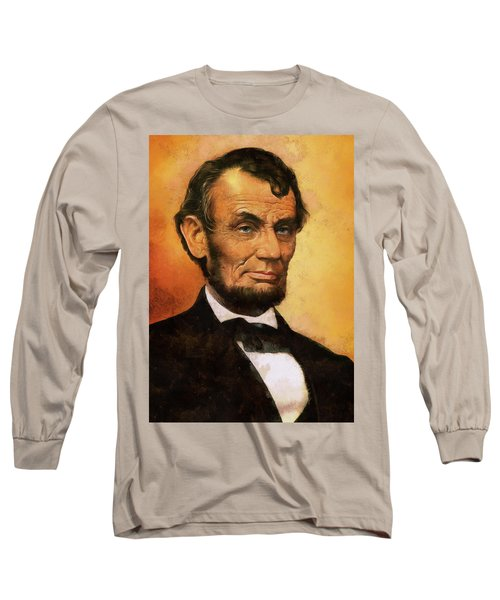 Portrait Of Abraham Lincoln Long Sleeve T-Shirt