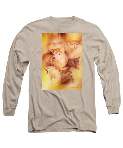 Portrait Of Chi Chi Long Sleeve T-Shirt by Denise Fulmer
