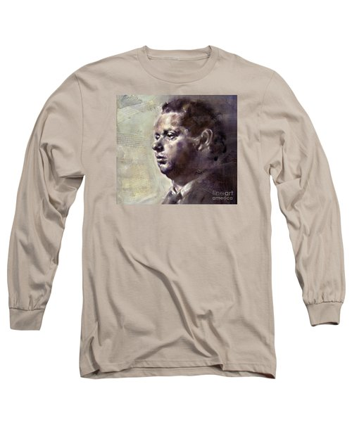 Portrait Of Dylan Thomas Long Sleeve T-Shirt