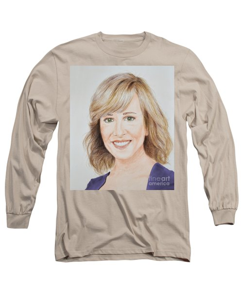 Portrait Of Jamie Colby Long Sleeve T-Shirt by Jim Fitzpatrick