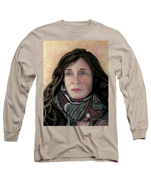Portrait Of Katy Desmond, C. 2017 Long Sleeve T-Shirt by Denny Morreale