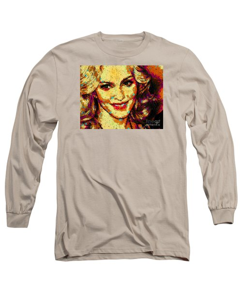 Portrait Of Madonna Long Sleeve T-Shirt by Zedi