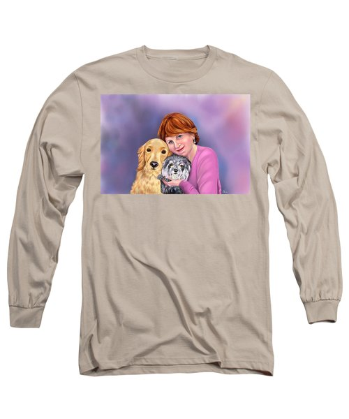 Portrait Of Virginia Long Sleeve T-Shirt