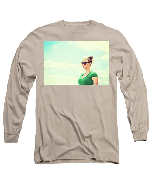 Portrait Of Young Woman Long Sleeve T-Shirt