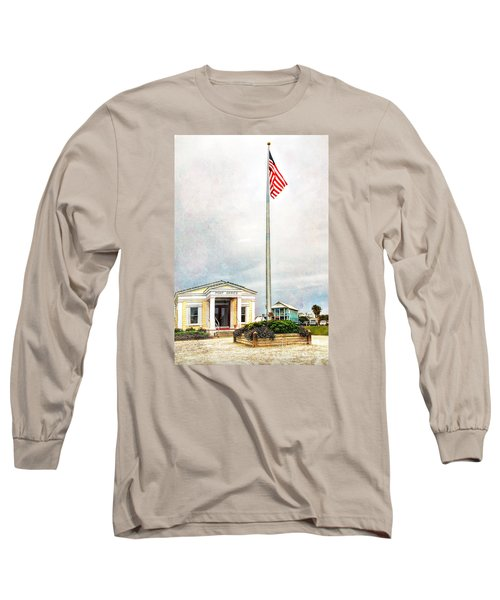 Post Office In Seaside Florida Long Sleeve T-Shirt by Vizual Studio