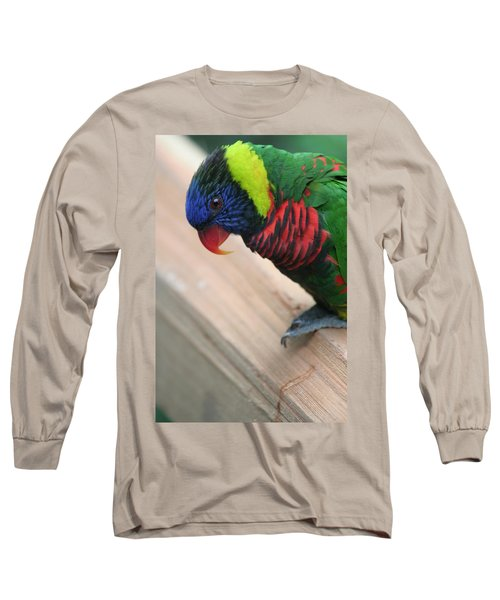 Long Sleeve T-Shirt featuring the photograph Post Position by Laddie Halupa