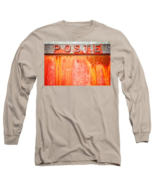 Poste Italian Weathered Mailbox Long Sleeve T-Shirt by Silvia Ganora