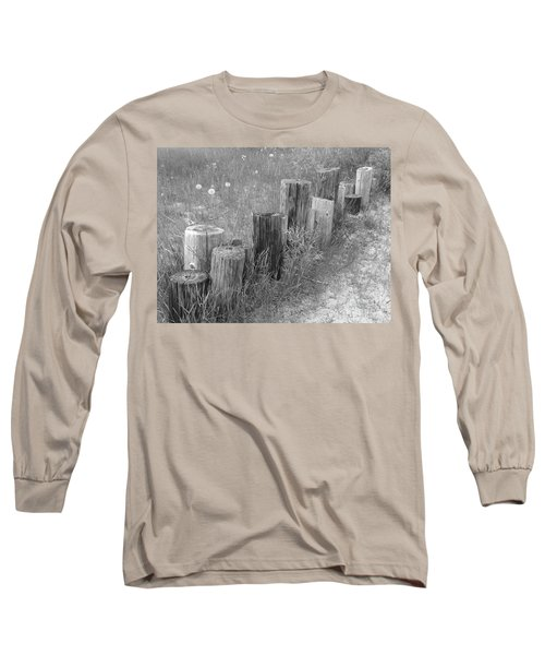 Posts In A Row Long Sleeve T-Shirt by Erick Schmidt
