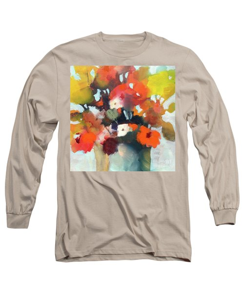 Pot Of Flowers Long Sleeve T-Shirt