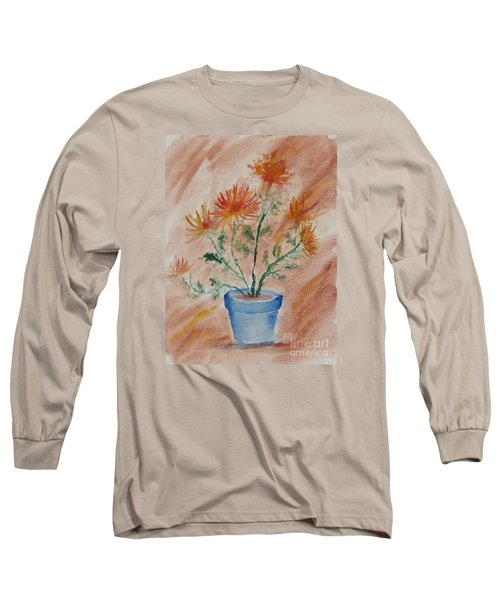 Potted Plant - A Watercolor Long Sleeve T-Shirt