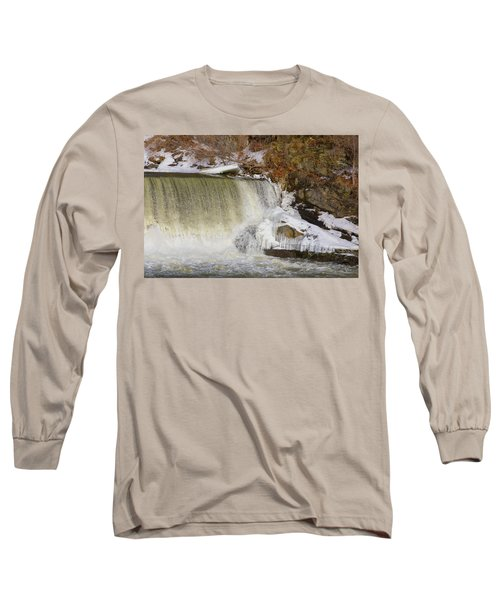 Power Station Falls On Black River Three Long Sleeve T-Shirt