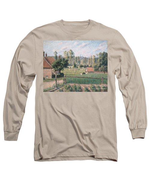 Prairie At Eragny, 1889 Long Sleeve T-Shirt