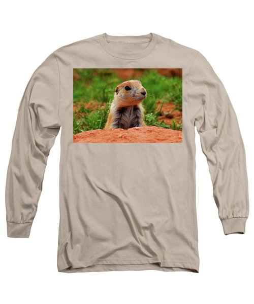 Long Sleeve T-Shirt featuring the photograph Prairie Dogs 007 by George Bostian