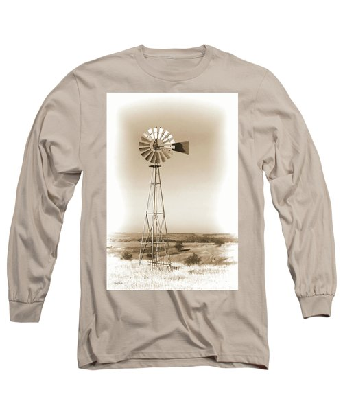 Prairie Guardian Long Sleeve T-Shirt by Sylvia Thornton