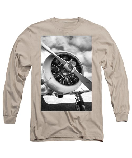 Pratt And Whitney R1340 Wasp Radial Engine Long Sleeve T-Shirt by Chris Smith