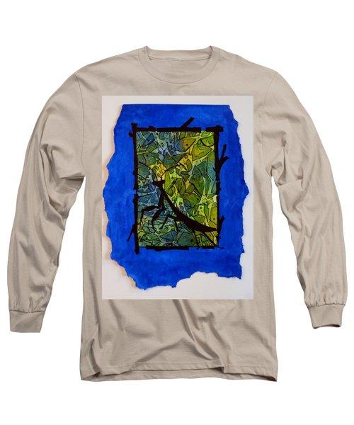 Praying Mantis Silhouette Long Sleeve T-Shirt