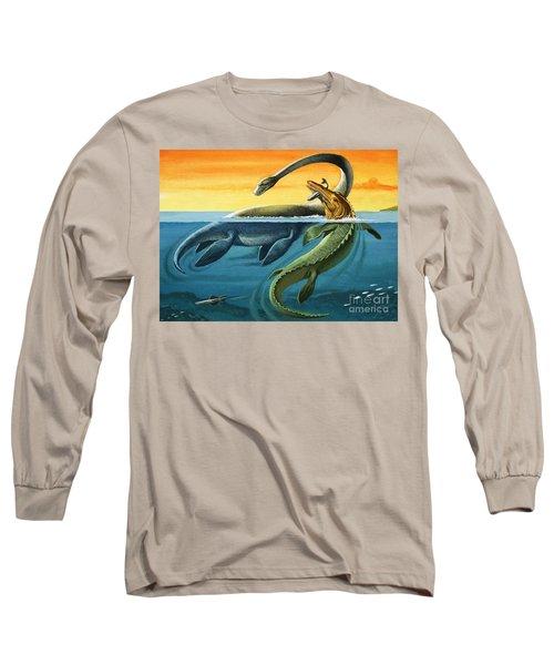 Prehistoric Creatures In The Ocean Long Sleeve T-Shirt
