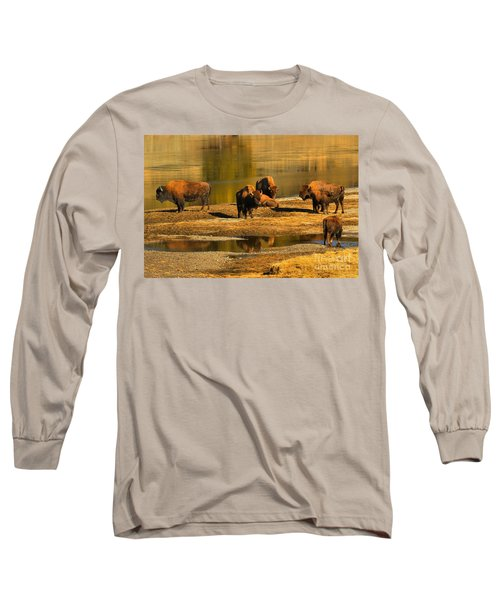 Long Sleeve T-Shirt featuring the photograph Preparing To Cross The Yellowstone River by Adam Jewell