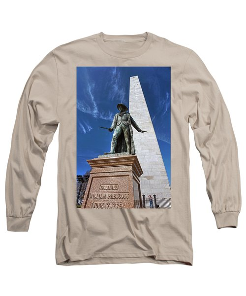 Prescott Statue On Bunker Hill Long Sleeve T-Shirt