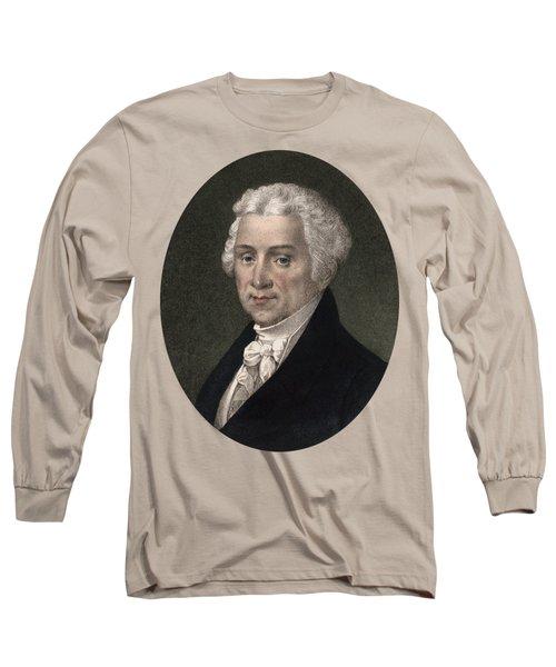 President James Monroe - Vintage Color Portrait Long Sleeve T-Shirt