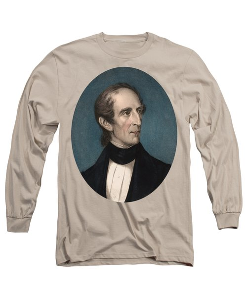 President John Tyler - Vintage Color Portrait Long Sleeve T-Shirt