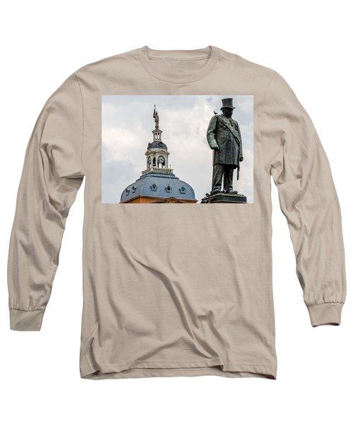 Long Sleeve T-Shirt featuring the photograph Pretoria Church Square by Steven Richman