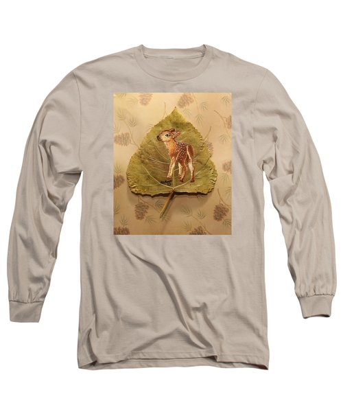 Pretty Baby Deer Long Sleeve T-Shirt by Ralph Root