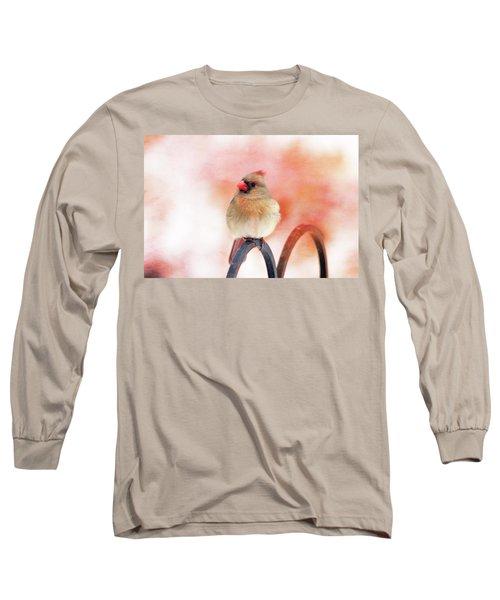 Pretty Cardinal Long Sleeve T-Shirt by Trina Ansel