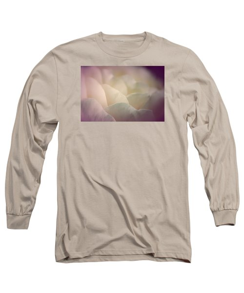 Long Sleeve T-Shirt featuring the photograph Pretty Cream Rose by The Art Of Marilyn Ridoutt-Greene