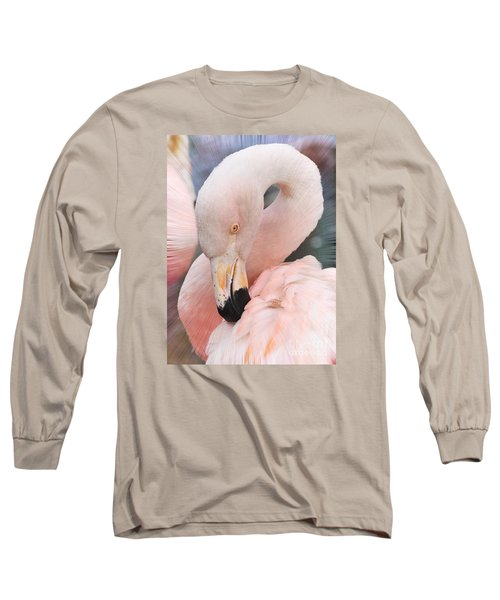 Pretty In Pink Long Sleeve T-Shirt by Kathy Baccari