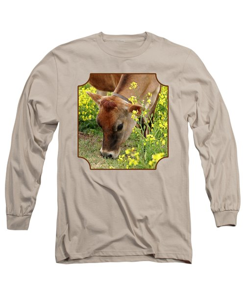 Pretty Jersey Cow - Vertical Long Sleeve T-Shirt