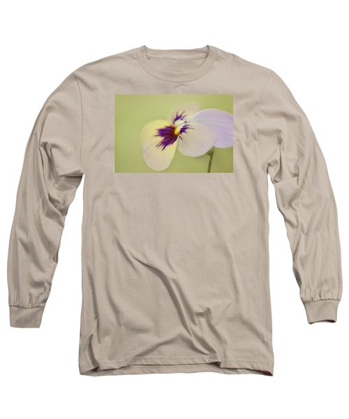 Pretty Pansy Macro Long Sleeve T-Shirt