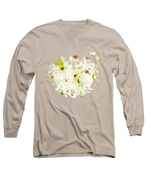 Pretty Pear Petals Long Sleeve T-Shirt by Anita Faye
