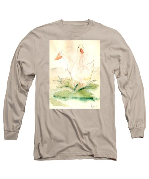Long Sleeve T-Shirt featuring the painting Pretty Pekins by Denise Tomasura