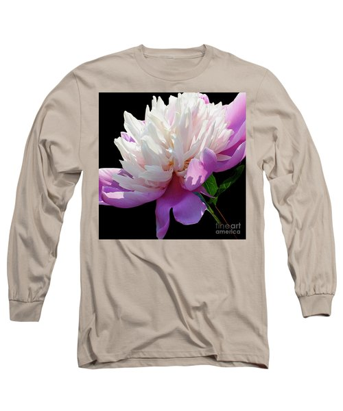 Pretty Pink Peony Flower Wall Art Long Sleeve T-Shirt