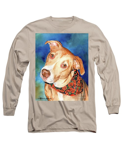 Pretty Please, Dog Portrait, Dog Painting, Dog Print, Dog Art Long Sleeve T-Shirt