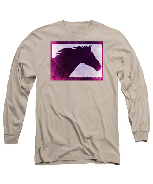 Pretty Purple Horse  Long Sleeve T-Shirt by Mindy Bench