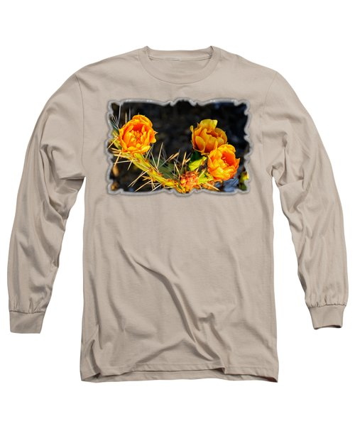 Prickly Pear Flowers Op49 Long Sleeve T-Shirt by Mark Myhaver