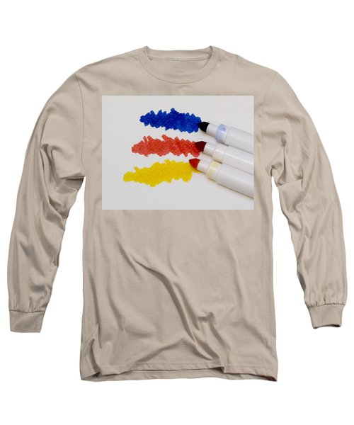 Long Sleeve T-Shirt featuring the photograph Primary Colors by Marion McCristall